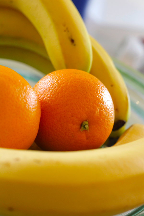 This is an image of oranges used in the body scrub recipe.