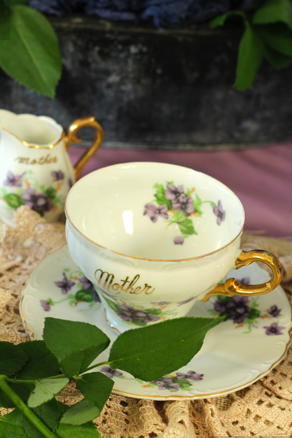 This is an image of a vintage teacup.