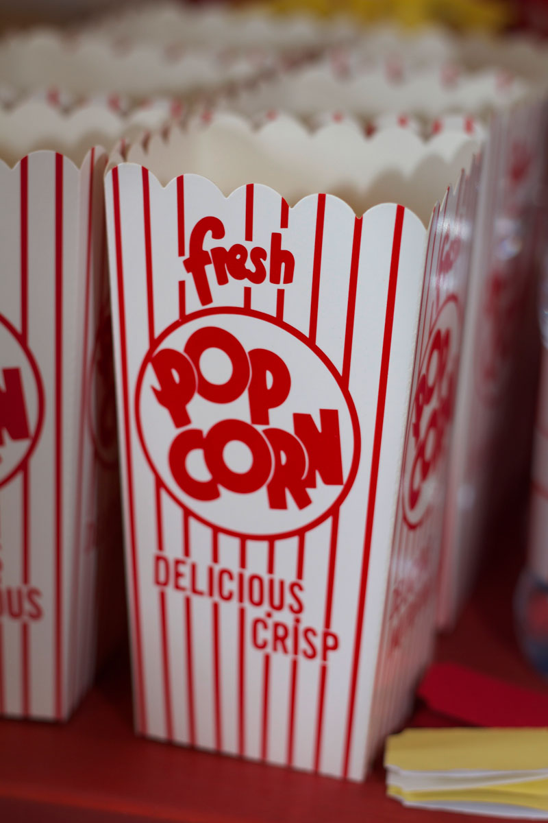 This is an image of retro Popcorn boxes.