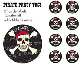 This is an image of Pirate Party prinables.
