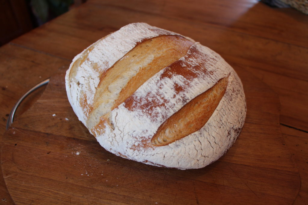 My version of the BBC sourdough bread.